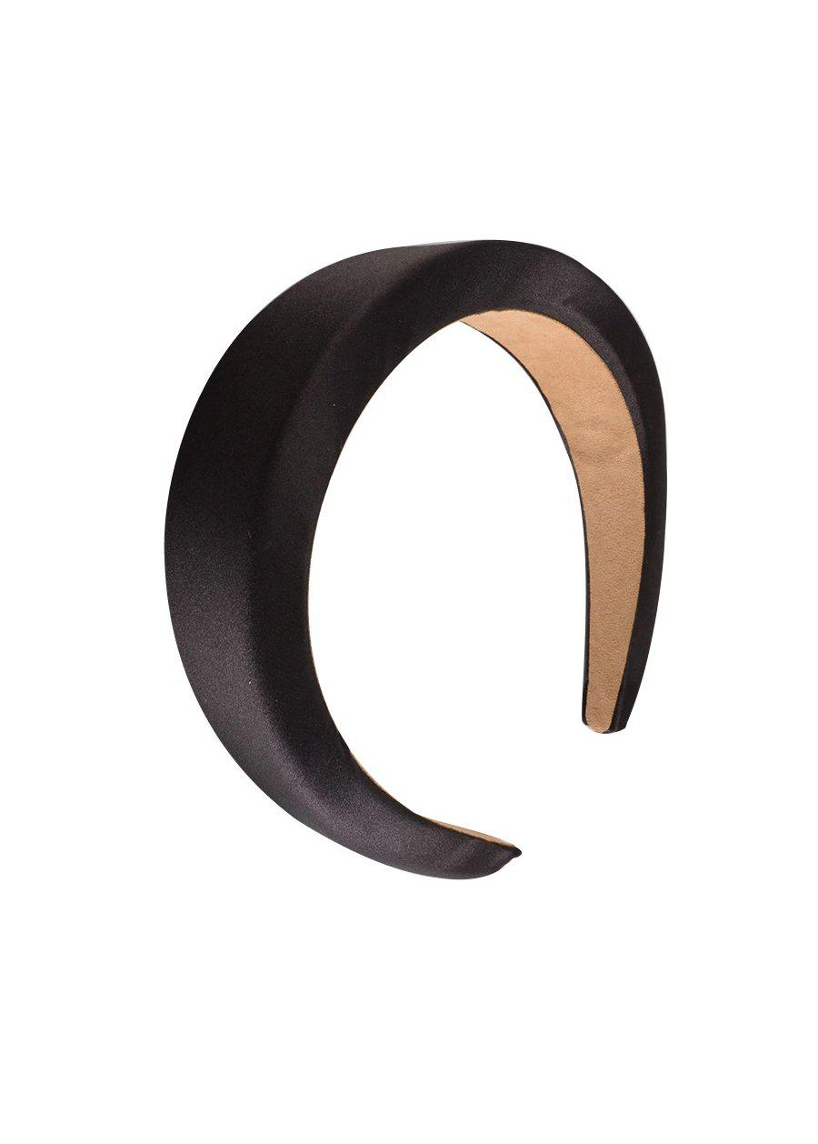 Black Satin Padded Headband-TeenzShop