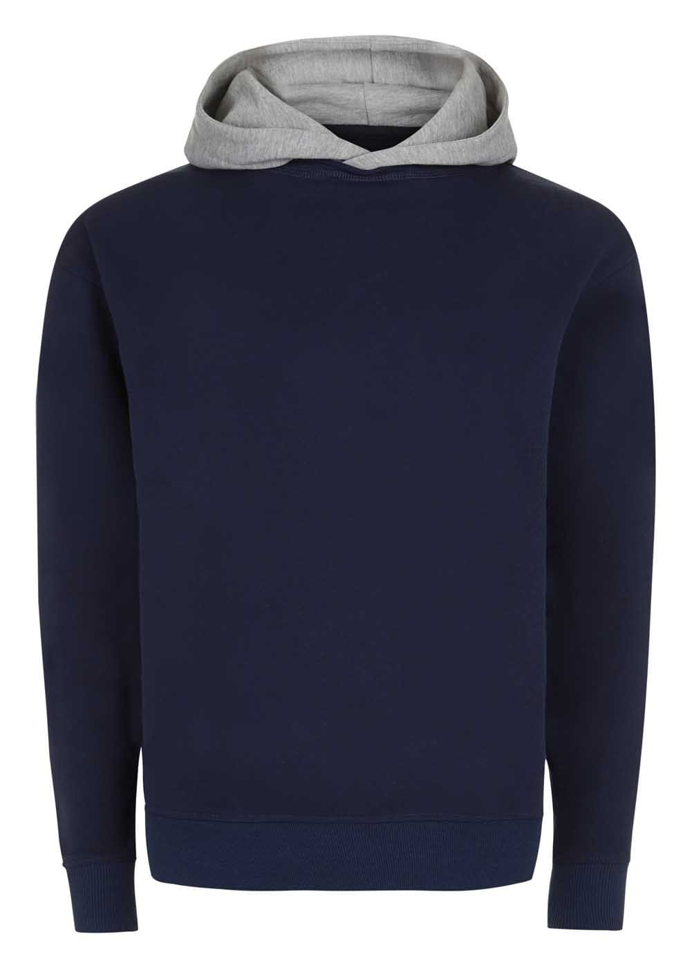Teenzshop  Boys Navy Grey Nathaniel Hoodie