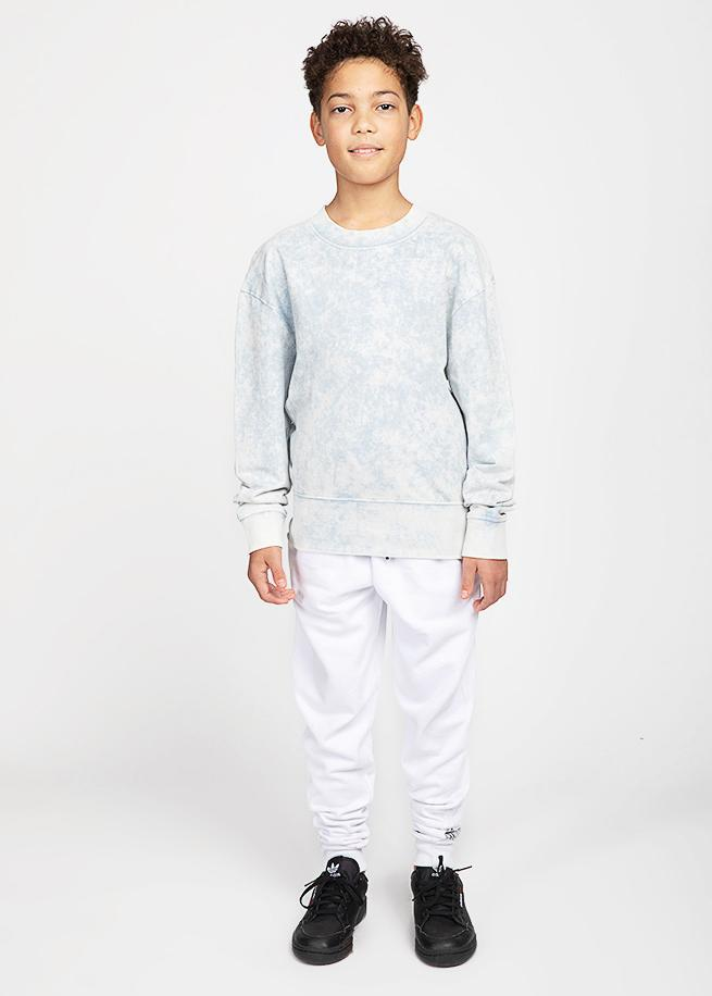 Boys Blue Stone Wash Light Sweatshirt-TeenzShop