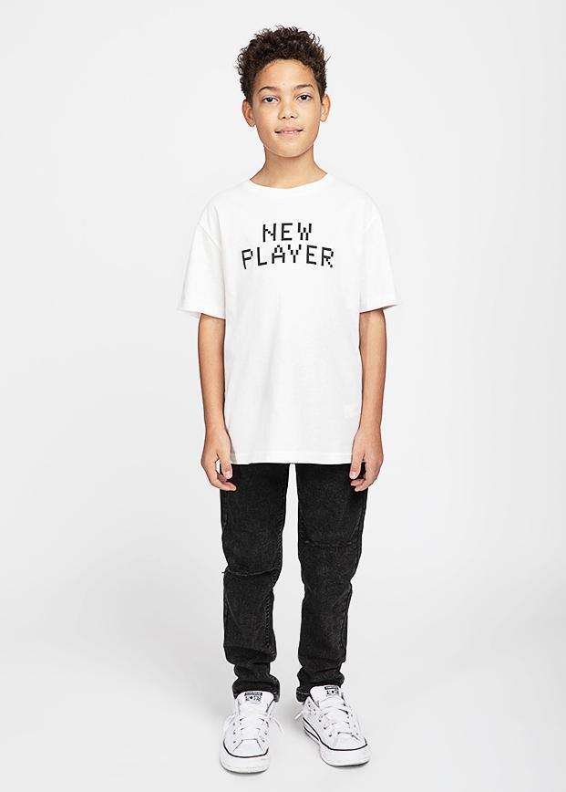Boys White New Player T-shirt