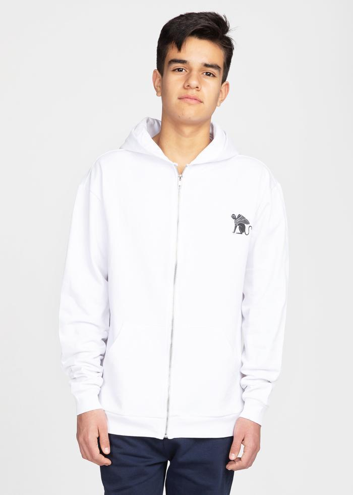 Boys White Zip-Up Toro Hoodie