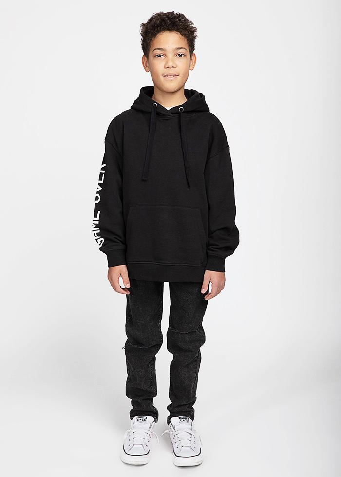 Boys Black Game Over Hoodie-TeenzShop