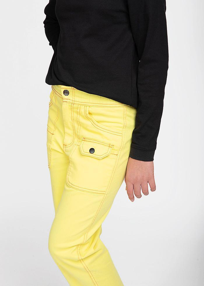 Girls Yellow Contrast Stitch Skater Trouser-TeenzShop