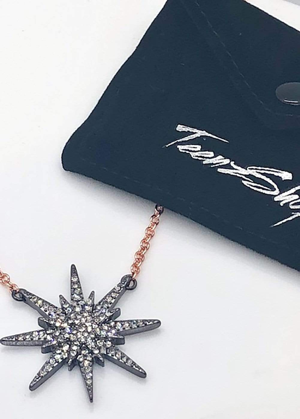 Crystal Starburst Necklace-TeenzShop