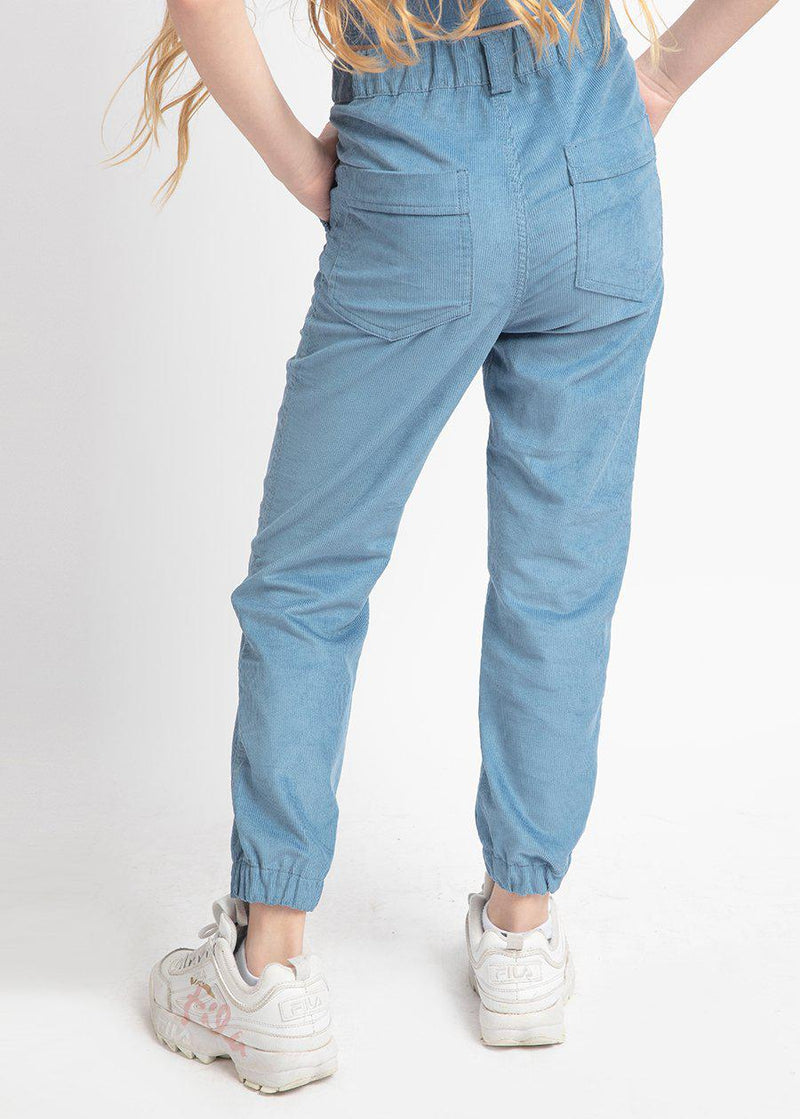 Light Blue Corduroy Cargo Trousers