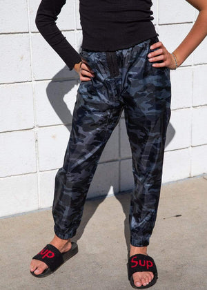 TeenzShop  Girls Camo Lightweight Shell Joggers - SUSTAINABLE FABRIC