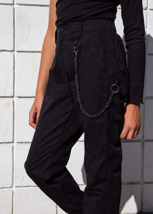 TeenzShop  Girls Cargo Pants with Chain - SUSTAINABLE FABRIC
