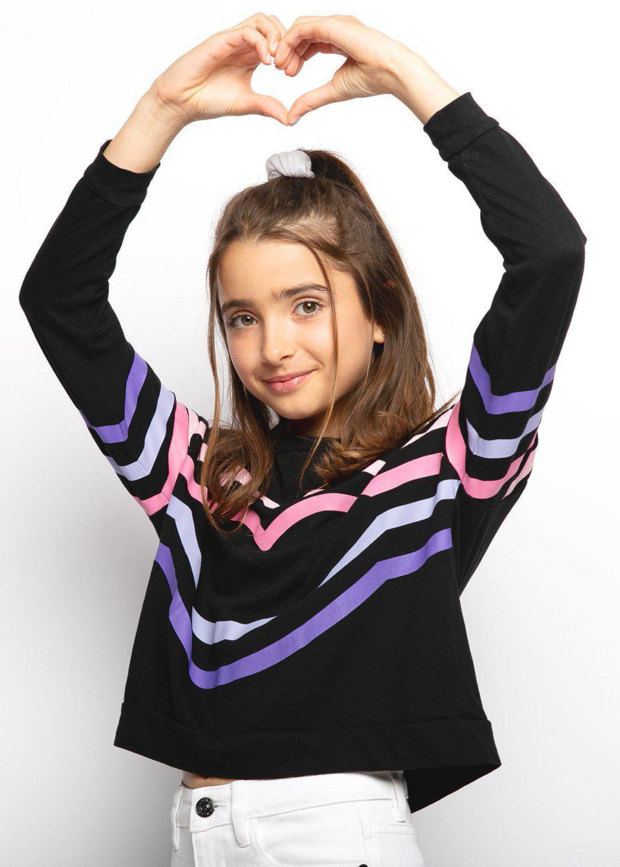 Girls Candy Stripe Light Sweatshirt