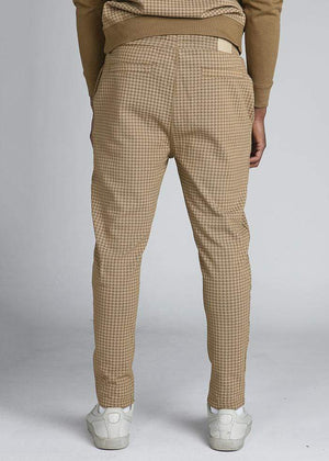TeenzShop  Boys Camel Check Joggers