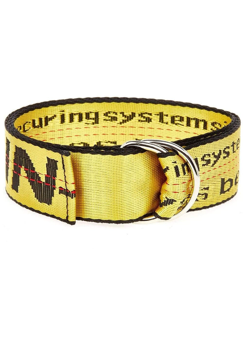 TeenzShop Yellow D-ring Tape Belt