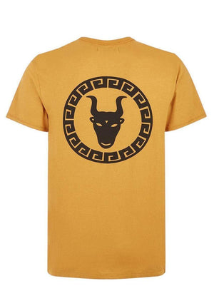 TeenzShop  Boys Yellow Graphic Logo T-shirt