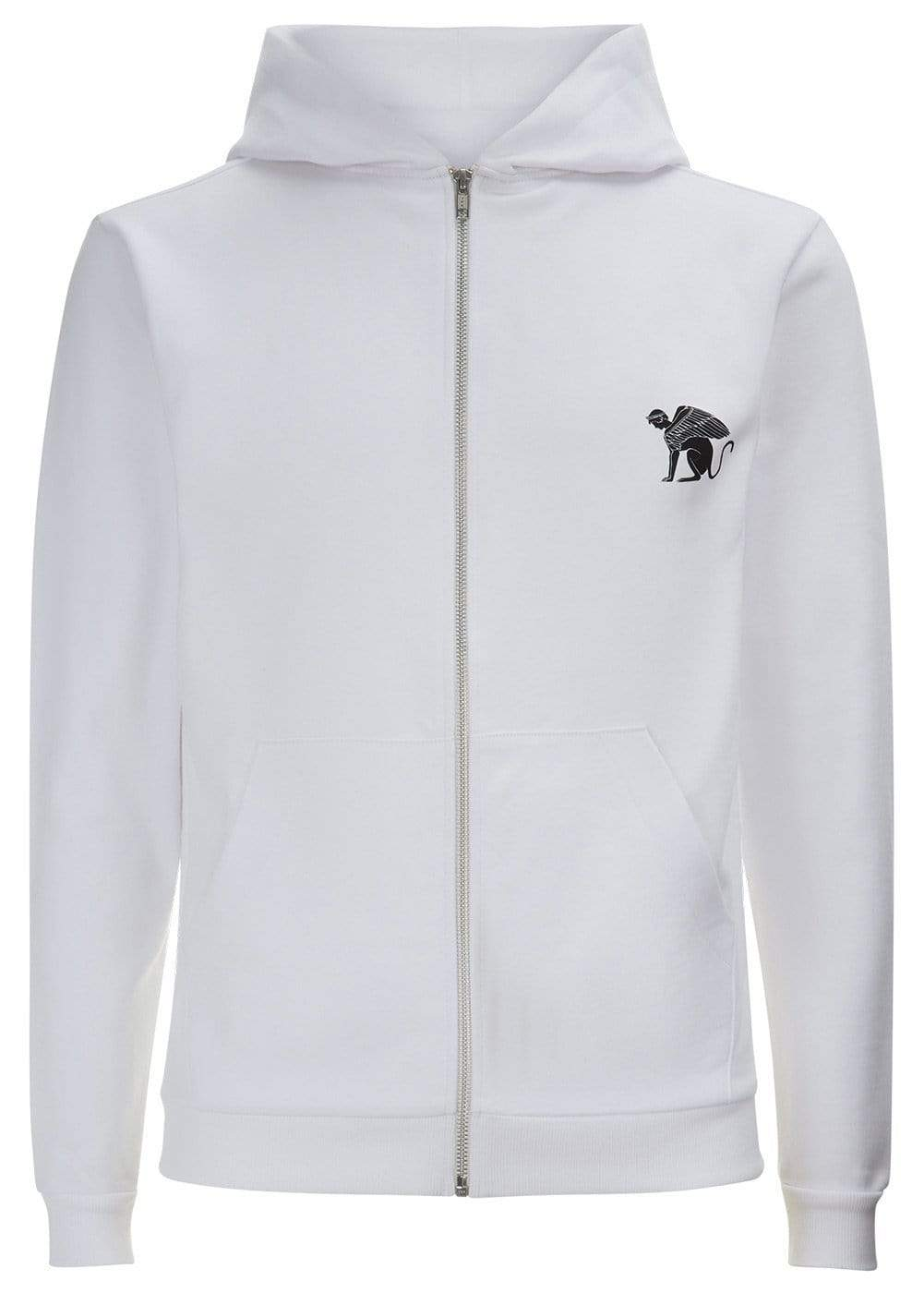 Teenzshop  Boys White Zip-Up Toro Hoodie
