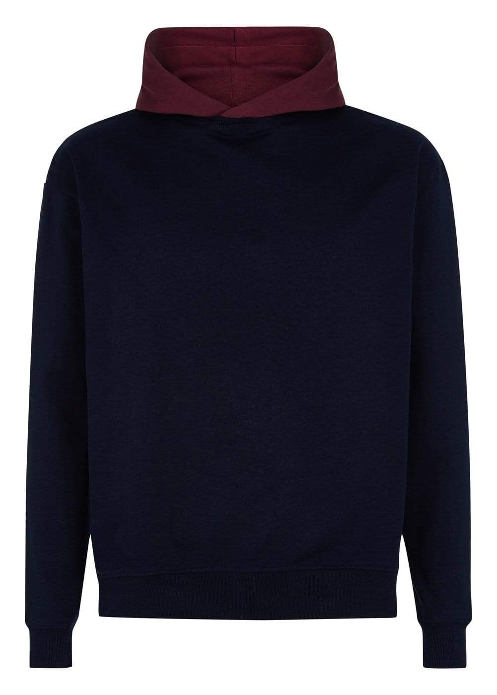 Boys Navy Burgundy Nathaniel Hoodie-TeenzShop