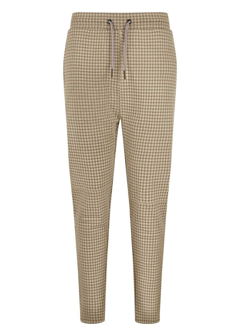 Boys Camel Check Sweatpants