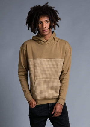 TeenzShop  Boys Camel Checker Hoodie