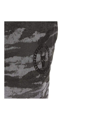 Teenzshop  Boys Grey Camo Joggers With Logo