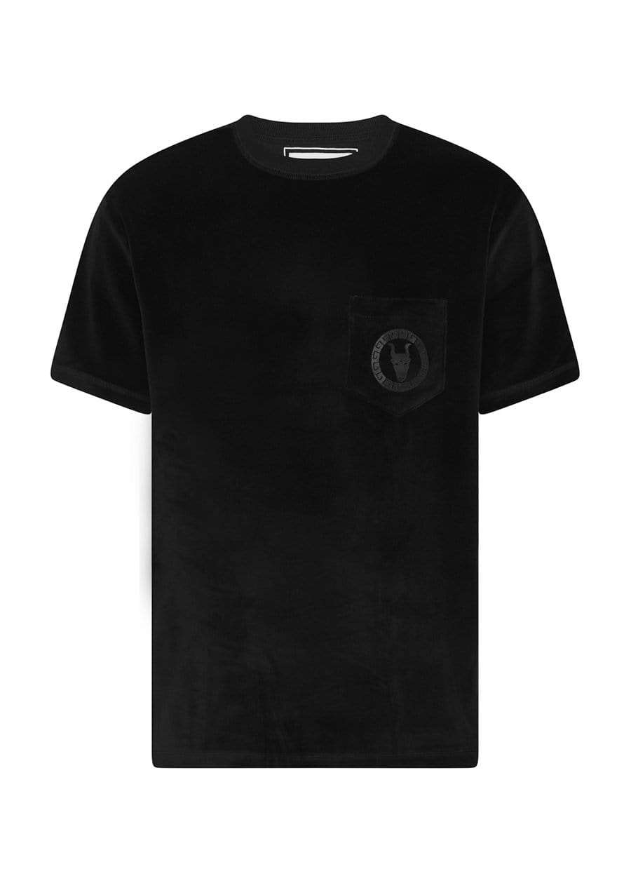 TeenzShop  Boys Black Velour Toro Logo T-shirt
