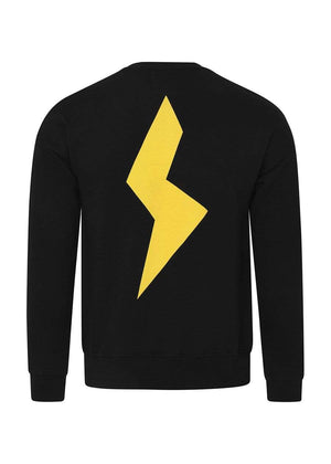 TeenzShop  Girls Black & Yellow Thunderbolt Sweatshirt