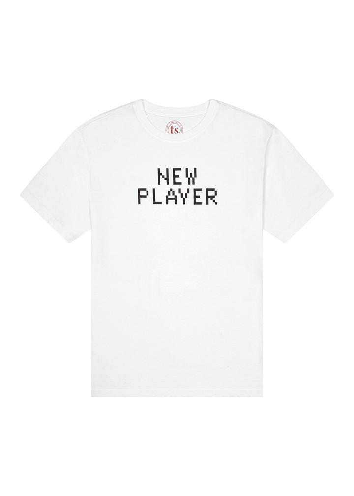 Girls White New Player T-shirt-TeenzShop
