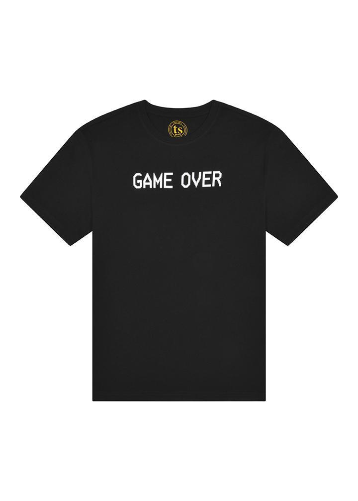 Boys Black Game Over T-shirt-TeenzShop