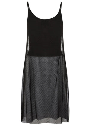 Teenzshop  Girls Black Long Mesh Top