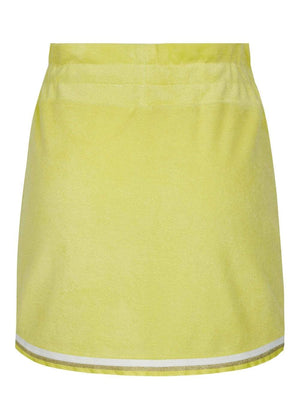 Girls Yellow Retro Terry Skirt-TeenzShop