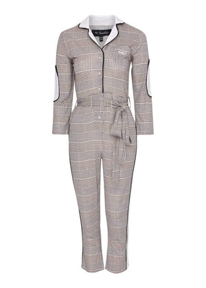 TeenzShop  Girls Beige WORKWOMAN Boilersuit With Contrast Stripe