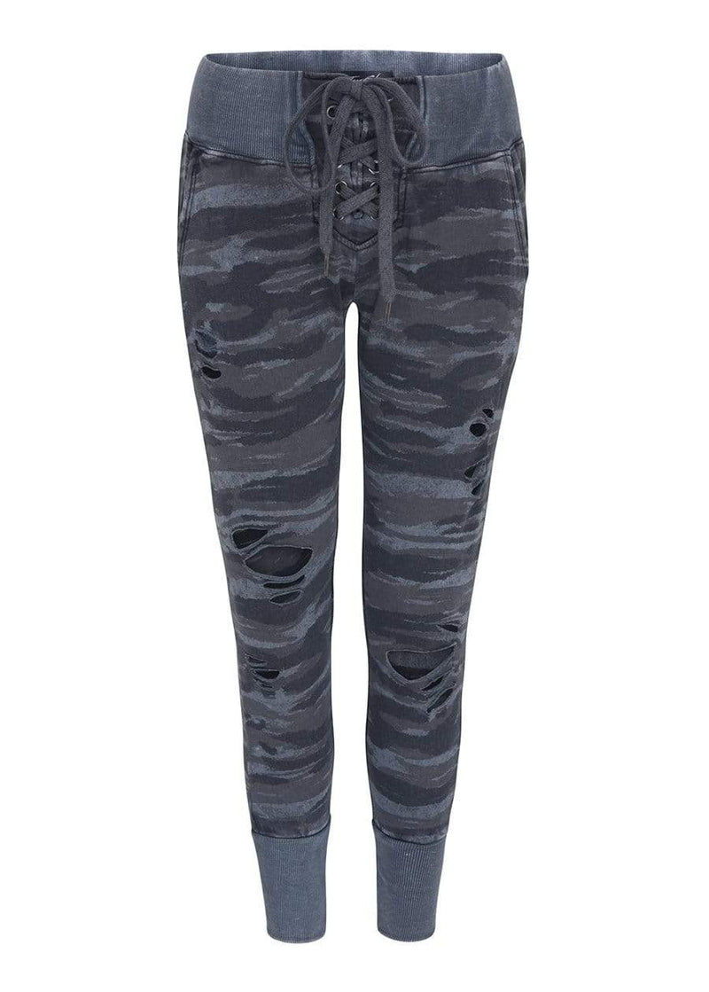 TeenzShop  Girls Lace-up ripped Joggers