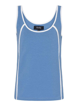 TeenzShop  Girls Blue Retro Eyes Tank Top