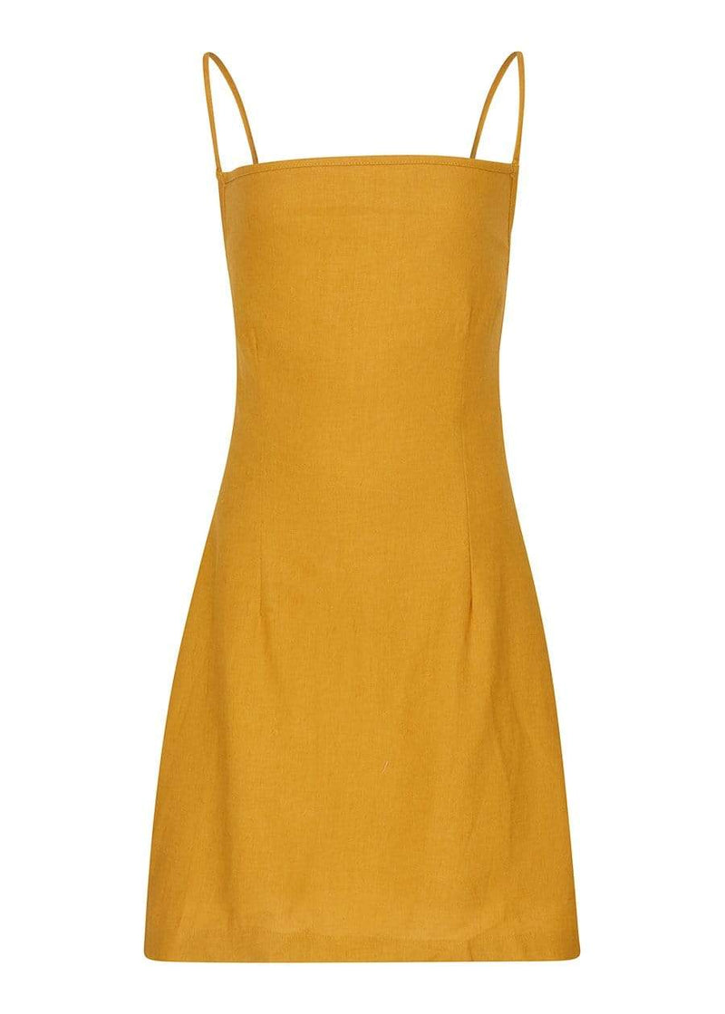 Girls 80's Gold Tie Back Dress-SUSTAINABLE FABRIC