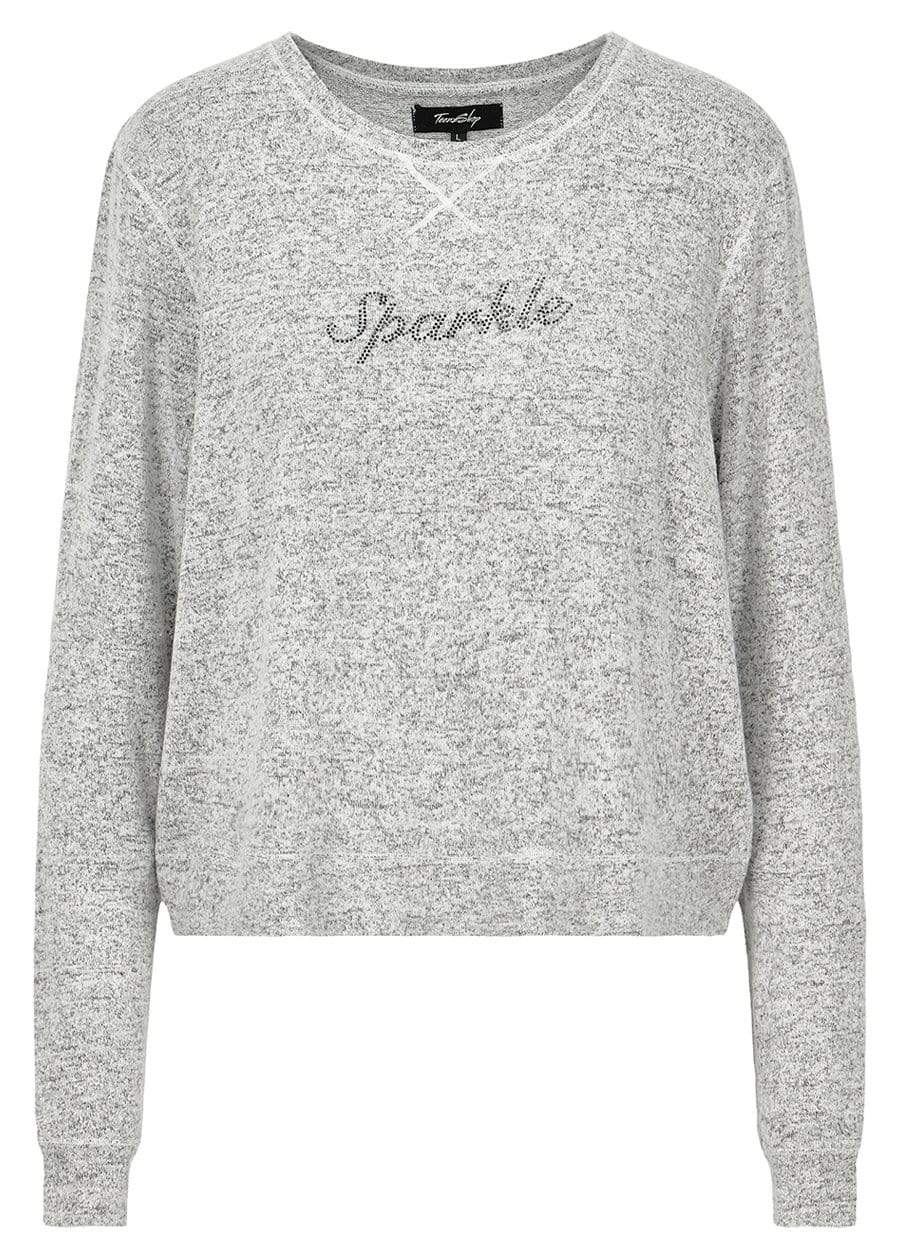 TeenzShop Girls Grey Sparkle Sweater - SUSTAINABLE FABRIC