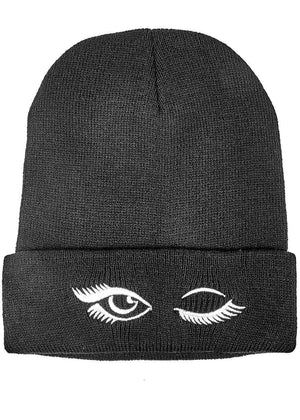 TeenzShop Teenzshop Wink Eye Beanie