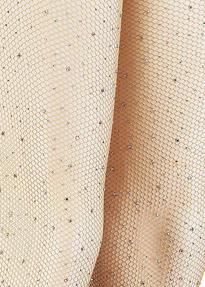 TeenzShop Crystal Nude Fishnet Tights