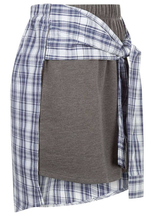 TeenzShop  Girls Grey Sweat Skirt With Shirt Wrap