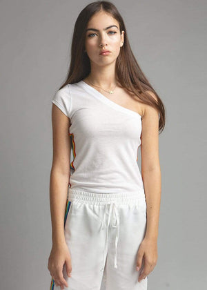 TeenzShop  Girls White Cropped Trousers With Side Snaps