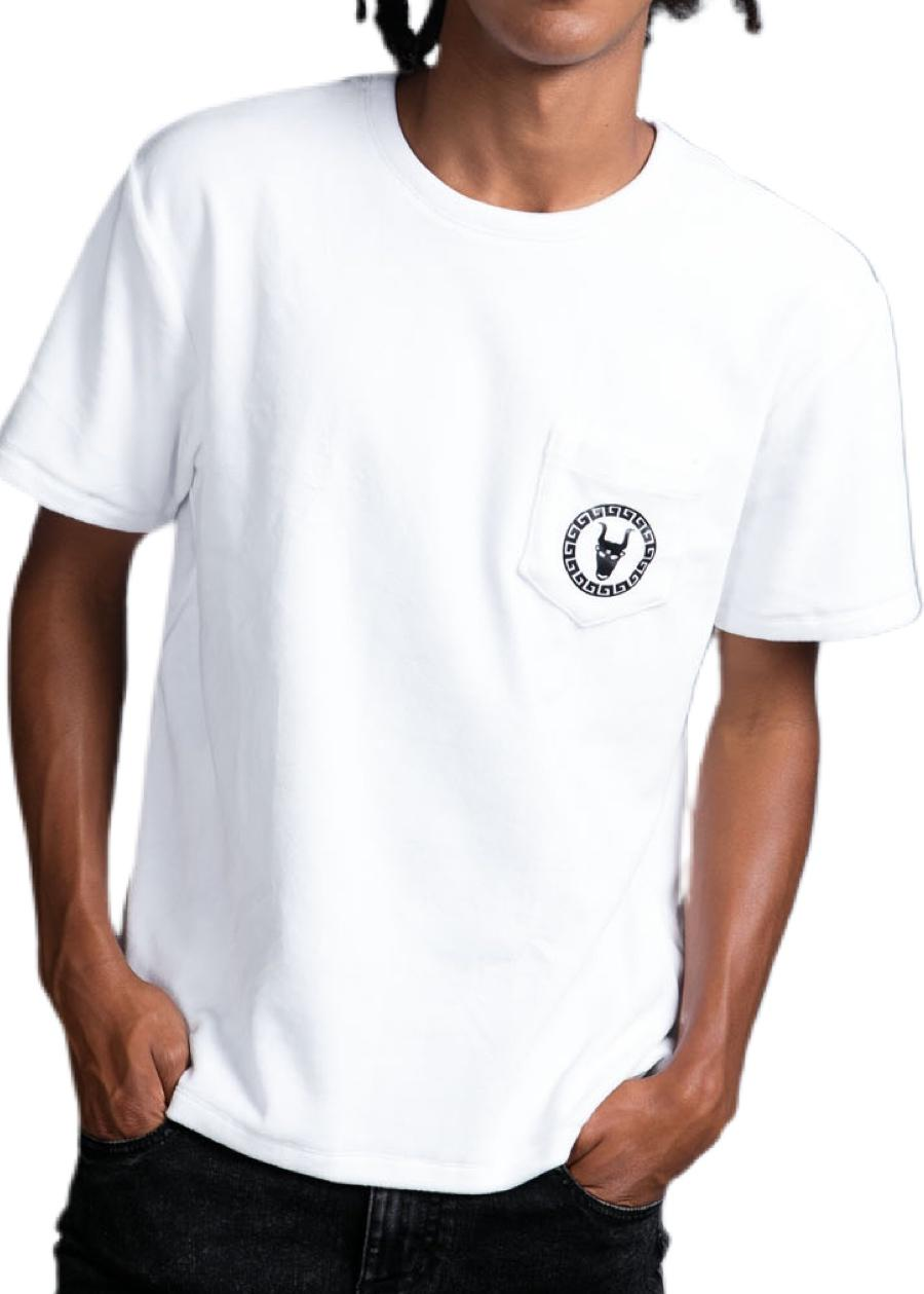 Boys White Velour Toro Logo T-shirt