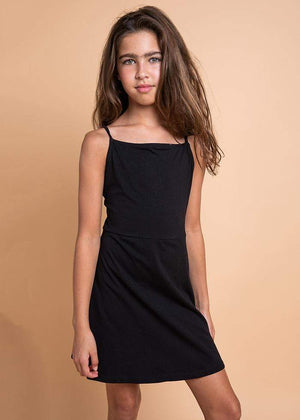 Girls Black Clueless Dress-TeenzShop