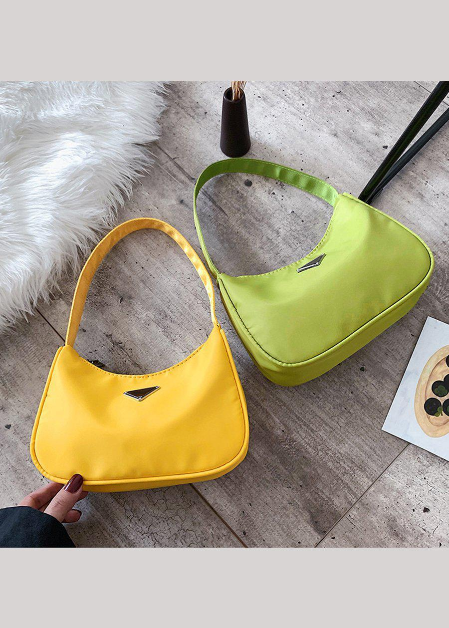 Small Lime Green Nylon 90's Handbag-TeenzShop