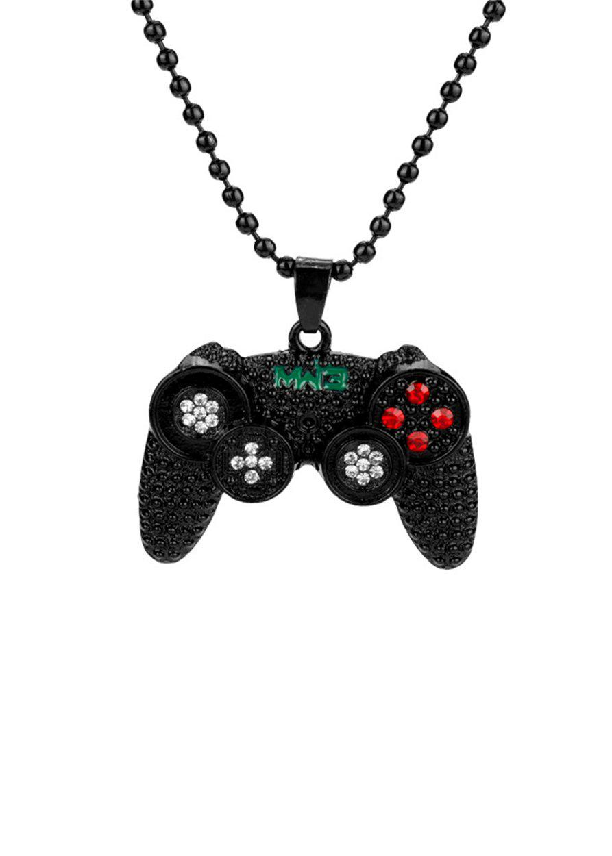 Black Game Console Chain Necklace-TeenzShop