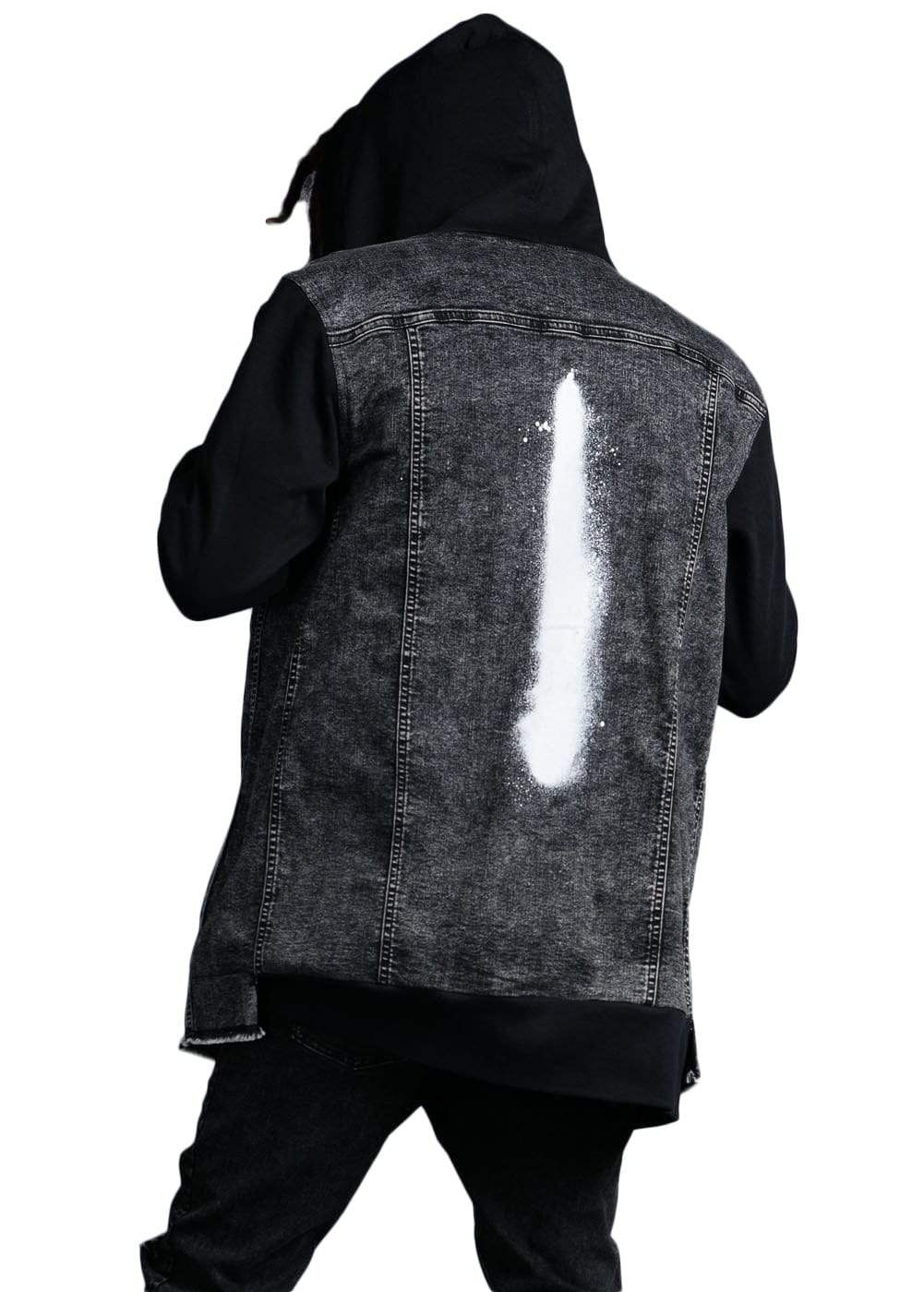 TeenzShop  Boys Longline Zip-Up Denim And Fleece Jacket