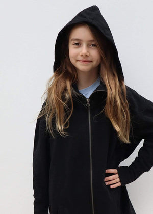 Teenzshop Girls Silver Sequin Galactic Embellished Hoodie