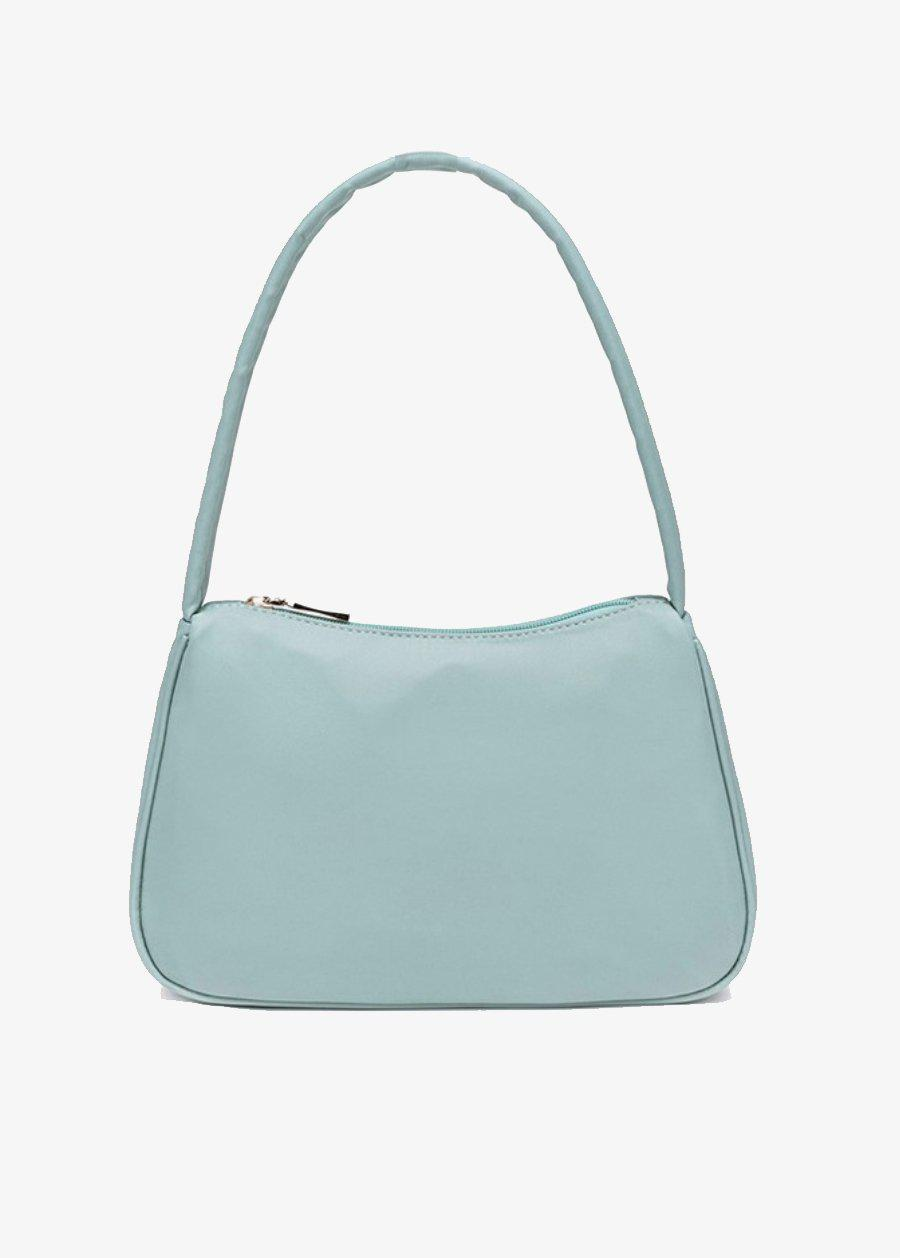 Small Light Blue Nylon 90's Handbag-TeenzShop