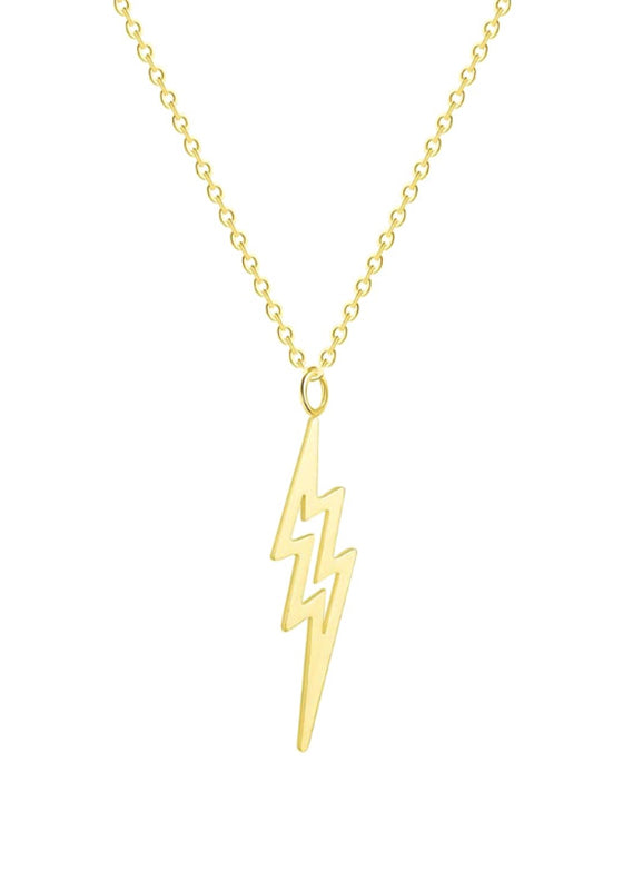 Gold Lightning Necklace