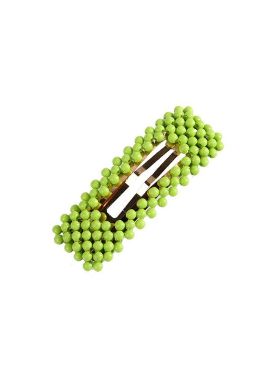 Green Beaded Hair Clip-TeenzShop