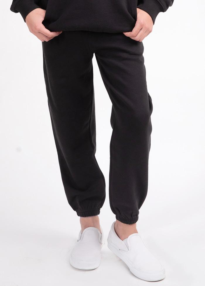 Girls Black Feelin Good Joggers-TeenzShop