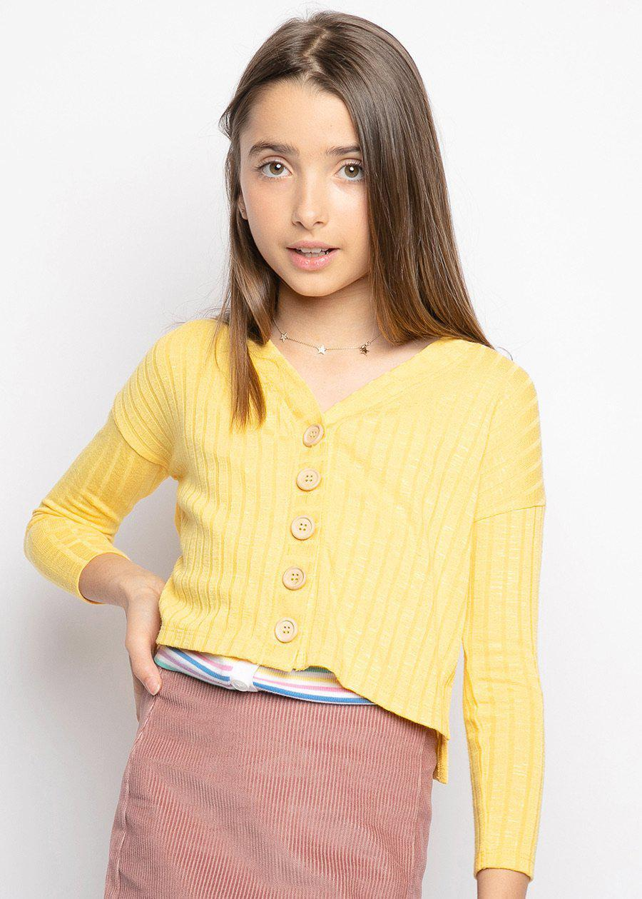 Mustard Yellow Lightweight Granny Cardigan