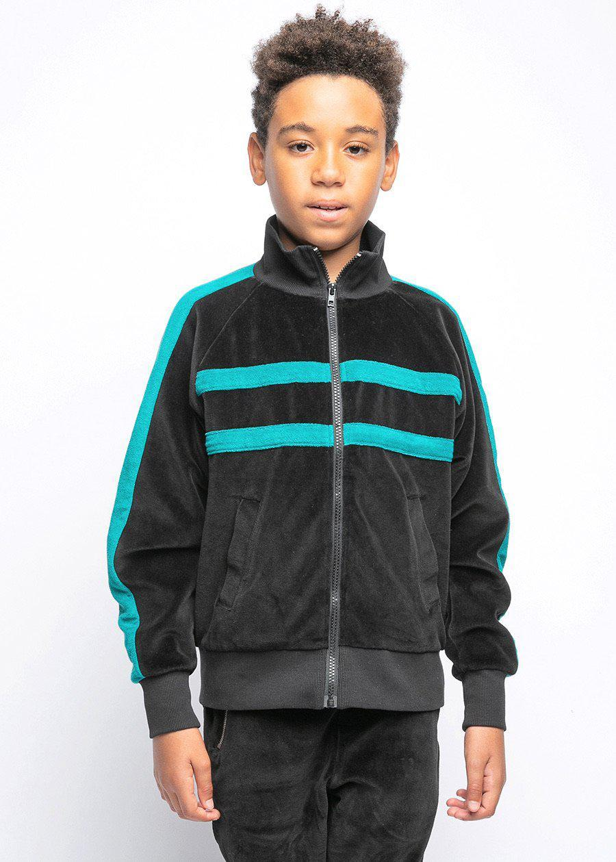 Boys Velour Bomber Jacket