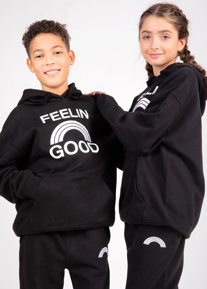 Boys Black Feelin Good Hoodie-TeenzShop