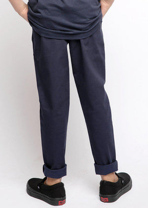 Boys Navy Basic Skinny Chinos-TeenzShop