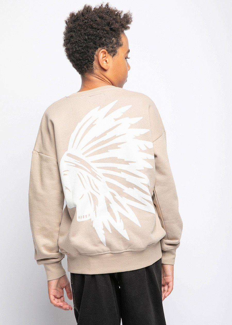 Boys Taupe Chieftain SweatShirt-TeenzShop